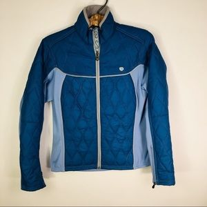 Pearl Izumi Blue Puffer Jacket Cycling Activewear